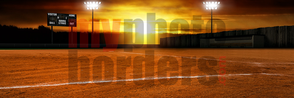 Ball Field Digital Sports Background