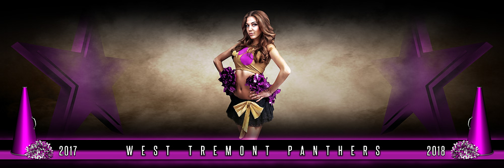 Panoramic Team Banner Photo Template For Cheerleading